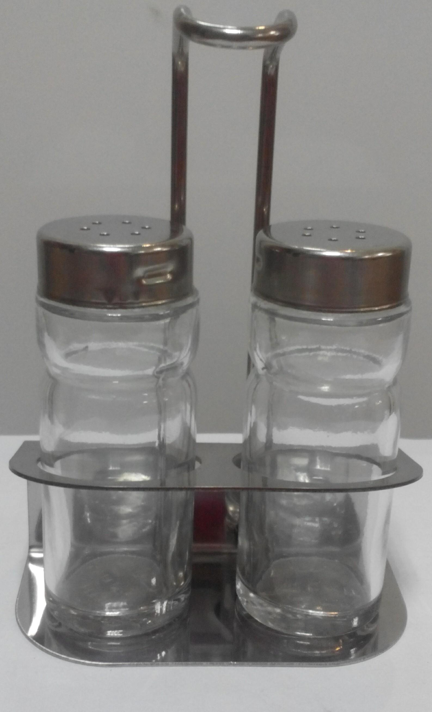 Набор для специй стекло на подставке 3пр.