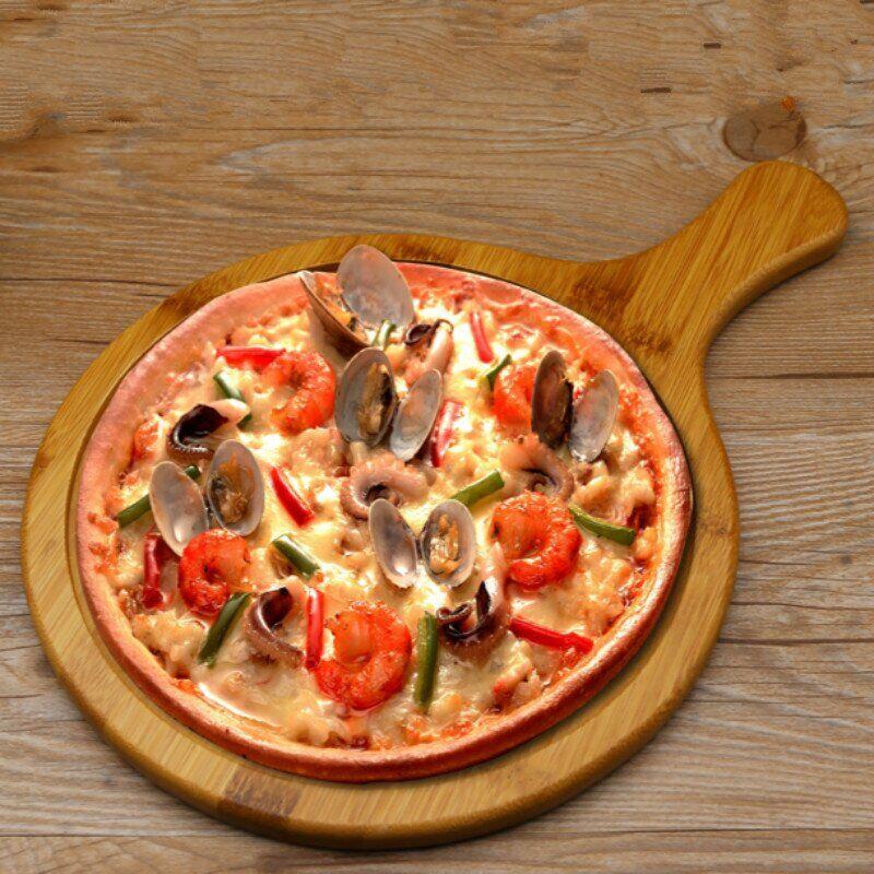 Деревянная доска для подачи пиццы с ручкой Frico FRU-781