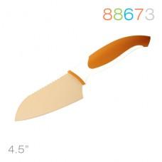 Нож сантоку, оранжевый 4,5''