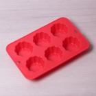 Силиконовая форма для маффинов 28x18,3x3,5 см Kamille 7753